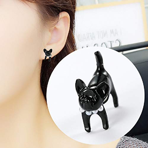 Cat Stud Earrings Sterling Silver Ear Studs Freshwater Cultured Pearl Stud Earrings for Women