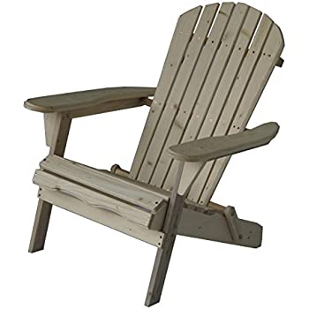 Carabelle Solid Fur Folding Adirondack Lounge Chair, Natural