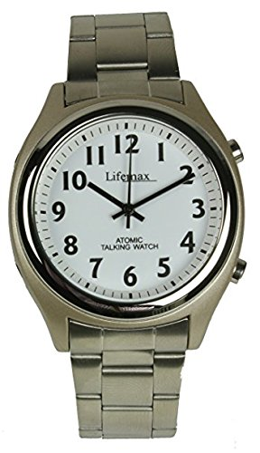 Lifemax Mens Talking Atomic/Analogue Watch - Speaks Time ...