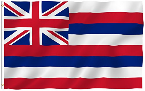 Hawaiian Flag (ANLEY [Fly Breeze] 3x5 Feet Hawaii State Flag - Vivid Color and UV Fade Resistant - Canvas Header and Double Stitched - Hawaiian HI Flags Polyester with Brass Grommets 3 X 5 Ft)