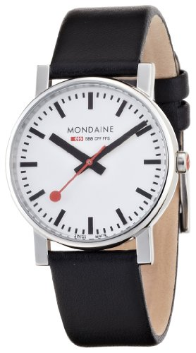 Mondaine Men's A658.30300.11SBB Quartz Evo Leather Band Watch