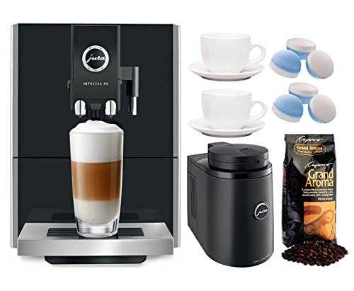 Jura A9 Automatic Coffee Machine, Black (Refurbished) Bundle