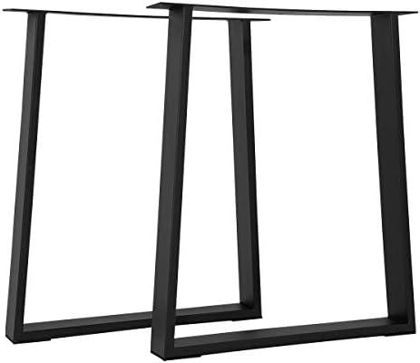 Tengchang 28''x24″ Industry Indoor Table Desk Legs Metal Dining Table Iron Kitchen Legs DIY Furniture