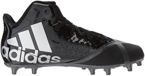 Adidas Man 5-stjärniga Mitten Fotboll Sko Svart / Vit / Natt Metallic