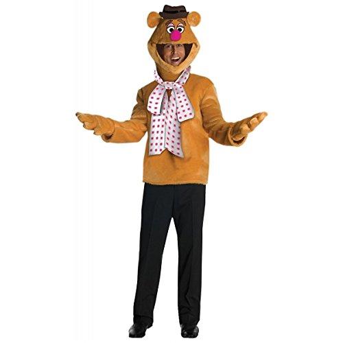 [GSG Fozzie Costume Adult The Muppets Halloween Fancy Dress] (Gothic Ballerina Halloween Costumes)
