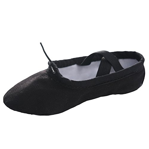 Slipper Shoe Toddler Big Shoe STELLE Girls Ballet Little Yoga Women Kid Ballet Kid Boy Canvas Black Dance xzxnSXBqtw