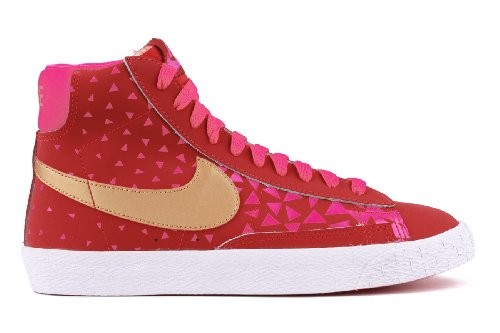Nike Blazers Gold (Nike Blazer Mid Vintage Youth Kids GS Shoes 539930 601, 6)