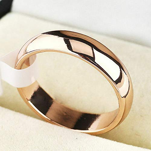 (Campton 4mm Women Stainless Steel Polished Wedding Engagement Party Band Ring SZ 5-13 | Model RNG - 11990 | 9)