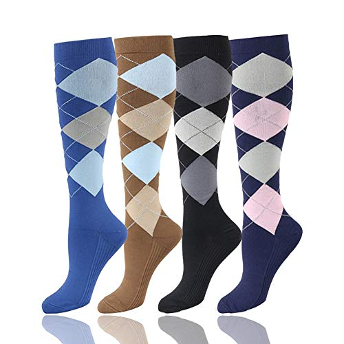HLTPRO Compression Socks 20-30 mmHg Women & Men - 1/4/6 Pairs Compression Stockings for Running, Nurse ()