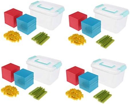 CUTICATE 知育 学習玩具 数字 数十 数百 数千 小数 分数 スターターおもちゃ ブロック 教育玩具 4セット