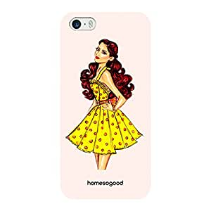 HomeSoGood Yellow Skirt Fashion Orange 3D Mobile Case For iPhone 5 / 5S (Back Cover)