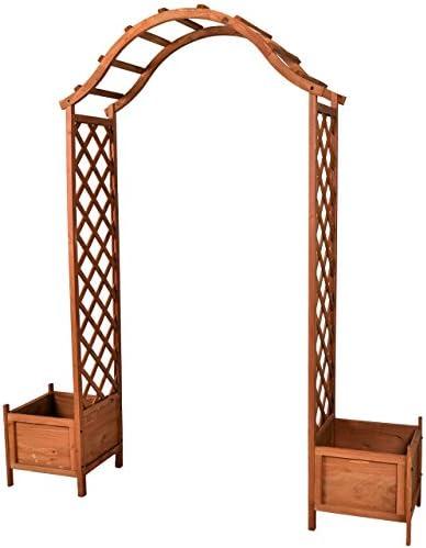 Rose arco de madera con 2 contenedor portería con arco para ...
