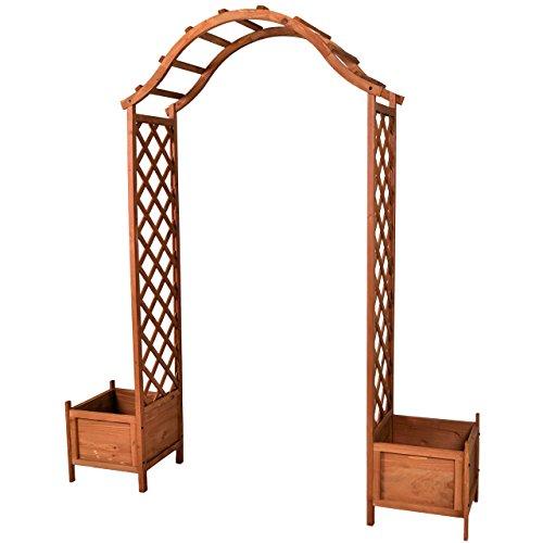 Holzeingang Torbogen Rosenbogen Rankhilfe Spalier Pergola Topfstellplätze Holz