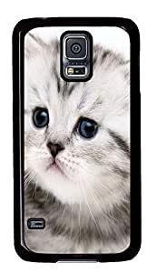 for sale Samsung S5 cover Gray Cat Cute Animals PC Black Custom Samsung Galaxy S5 Case Cover