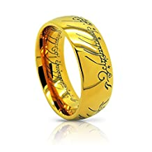 Atomic Jewelry Elvish *The One (Tungsten) Ring* 18k Gold Plating