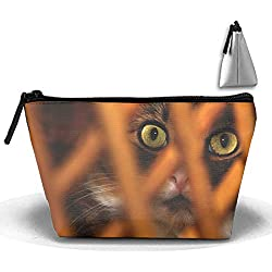 Travel Makeup Cat Muzzle Mesh Eyes Surprise Cosmetic Bag Hanging Storage Brush Organizer