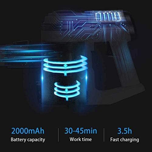 SMLZV Bâton Aspirateur sans fil, portable vertical léger vide, 2000mAh rechargeable, 8500Pa puissante aspiration, Max 45min Temps de travail, for la maison et voiture