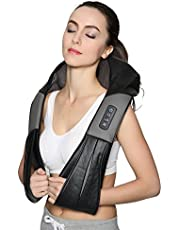 Shiatsu Back Neck Massager with Heat Deep Kneading Massage Pillow for Neck, Back, Shoulders, Foot, Legs, Waist, Relieve Muscle Pain - Office, Home & Car