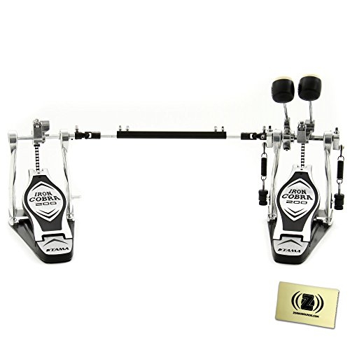 Tama HP200PTW Iron Cobra 200 Double Bass Pedal with Pedal Polishing Cloth