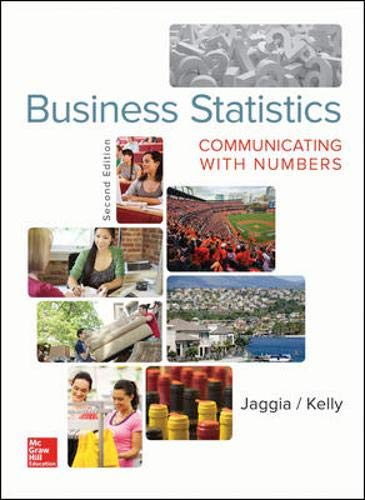 Business Statistics: Communicating with Numbers