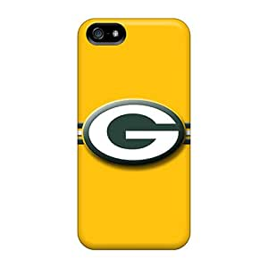 Anti-Scratch Cell-phone Hard Covers For Iphone 5/5s (nnR3124wqCC) Support Personal Customs Stylish Green Bay Packers Pattern