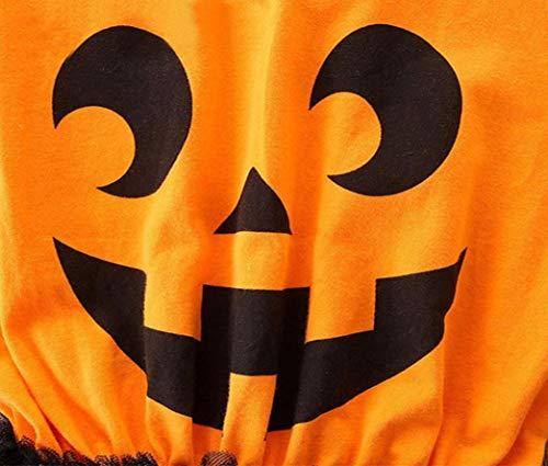 Zucca netto Halloween da BYSTE Lunga Top cartone Giuntura bambino Filato Pagliaccetti baby principessa di vestito tut Bodysuit animato Manica Vestito qnIIT1vw