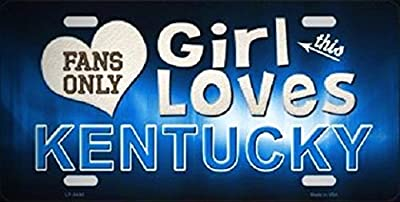 This Girl Loves Kentucky Novelty Metal License Platefor Home / Man Cave Decor by PrettyMerchant