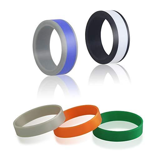 AK KYC Silicone Wedding Rings Detachable for