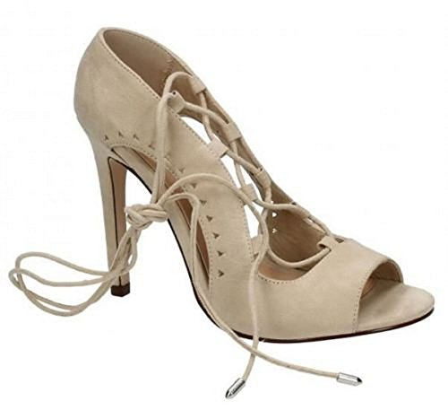 Spot On Womens Synthetic Leather Sandals Nude pG0c7IbI1