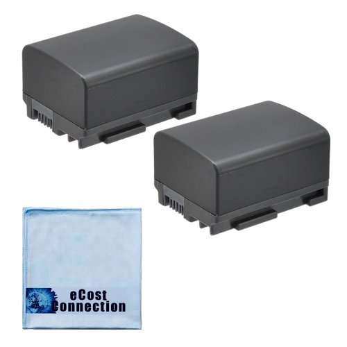 2 High-Capacity Canon BP-808 Replacement 1550mAh Li-Ion Rechargeable Camcorder Battery for Canon VIXIA HF10 HF11 HF100 HF20 HF200 HF S10 S11 S100 S20 S21 S200 S30 G10