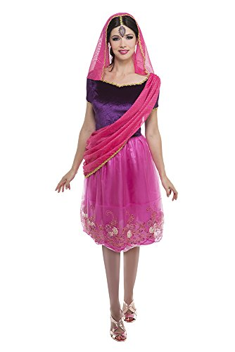 Palamon Women's Hindu Goddess Costume, Fuchsia, Small (Hindu Halloween Costumes)