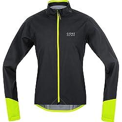 GORE BIKE WEAR, Men´s, road cyclist jacket, Waterproof, GORE-TEX Active, POWER GT AS, Size L, Black/Neon Yellow, JGPOWR