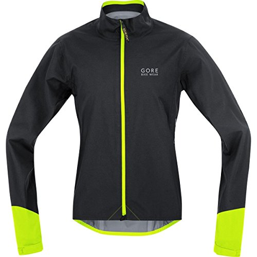 GORE BIKE WEAR Men's POWER GORE-TEX Active Jacket, size M, black/neon yellow