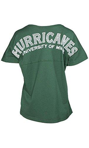 Official NCAA University of Miami Hurricanes The U UM U of M Canes Short Sleeve Spirit Wear Jersey (Miami Hurricanes Womens Jerseys)