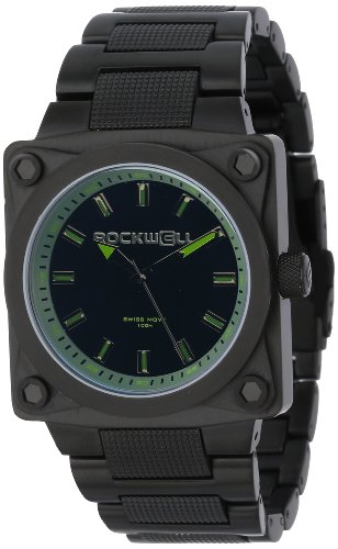 Rockwell Time Men's SF106 747 Black-Plated Stainless Steel with Green Watch