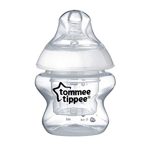 Tommee Tippee Closer to Nature First Feed Bottle, Extra Slow Flow Nipple - 5oz, 1ct