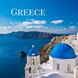 Greece 8.5 X 8.5 Photo Calendar January 2020 - June 2021: 18 Monthly Mini Picture Book  Cute 2020-2021 Year Blank At A Glance Monthly Colorful Desk ... (Awesome Country Photograph Desk Calendars)