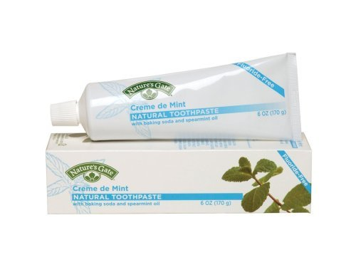 Creme De Peppermint Natural Toothpaste - Nature's Gate Natural Toothpaste, Creme de Mint 6 oz (Pack of 6)