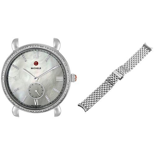 MICHELE-Womens-Gracile-Analog-Display-Swiss-Quartz-Silver-Watch-with-Stainless-Steel-Band