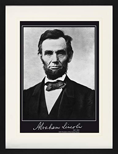 Abraham Lincoln Framed Collector Poster - 16th President of The United States, 1861-1865 (31 x 24 inches)