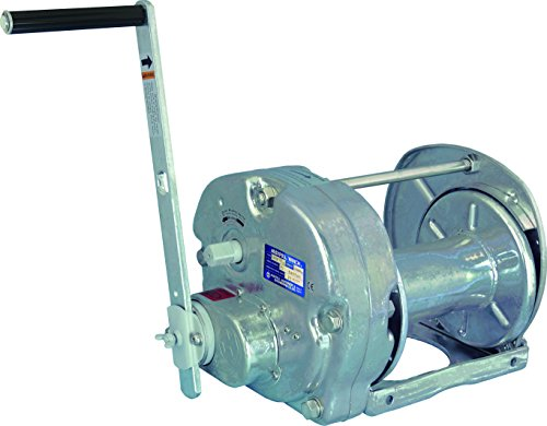 Steel Hot Dip - Maxpull Steel (Hot Dip Galvanizing) Spur Gear Heavy Duty Hand Manual Winch with Automatic Brake, 4,400 lbs (2 ton) Capacity without Cable or Wire Rope - GM-20-GS-SI