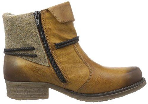 Rieker - botines de caño bajo de material sintético mujer Marrón - Braun (cayenne/muskat/wood/mogano / 24)