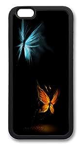 ACESR Butterflies Cute iphone 5C Case TPU Back Cover Case for Apple iphone 5C inch Black
