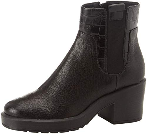 Kenly Chelsea Geox A Para C9999 D black Botas Mujer Mid 5r5TOXx