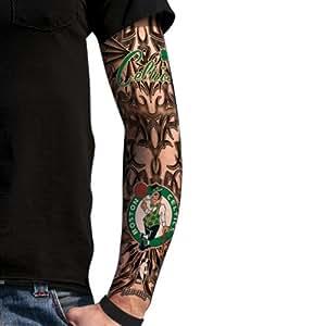 Boston celtics light undertone tattoo sleeve for Tattoo sleeves amazon