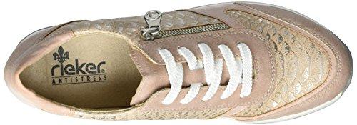 Rieker Damen N1820 Sneaker Mehrfarbig (Rosa/Rose/Ginger / 31)