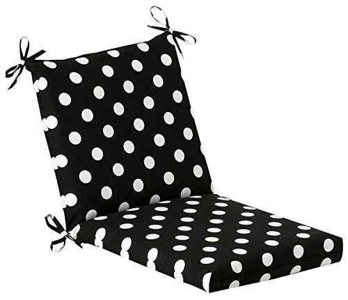 Outdoor Patio Furniture Mid Back Chair Cushion - Black &