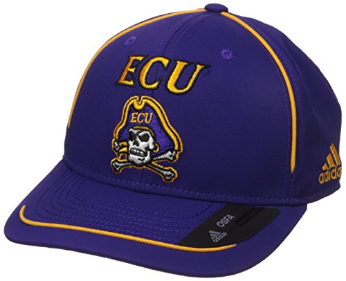 adidas NCAA East Carolina Pirates Adult Men Pre-Curved Structured Adjustable, One Size, Purple