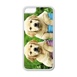 Hardshell Strong Protective Cute Pet Doggy Canis lupus familiaris Diy Protective Cover Case for Iphone 5C TPU Case-4