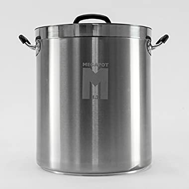 8 Gal MegaPot 1.2 Brew Kettle: Stainless Steel Stock Pot for Homebrew